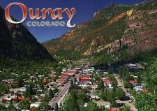 Ouray Colorado, San Juan Mountains, Peaks of the Rockies CO, Street --- Postcard