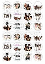24 Fifth Harmony 5th Wafer / Rice Paper Cupcake Topper Edible Fairy Cake Toppers