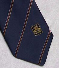 Best Western Hotels Corbata Vintage Retro logotipo de la empresa corporativa de 1980s 1990s Azul Marino
