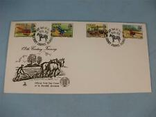 "Mercury premier jour timbre cover ""jersey 19th siècle l'agriculture"" 1975 timbres"