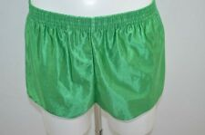 SHORT DE COURSE GAY NYLON VINTAGE RETRO M  VERT