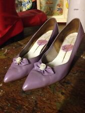 Vtg Lilac Winkle Pickers Stilettos Le Mods Supremo Stiletto Size 4.5 Stage Prop