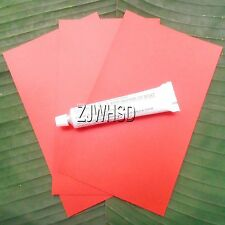 3x Red PVC Patch + Glue for Inflatable Boat Kayak Canoe Raft Bouncer Airbed