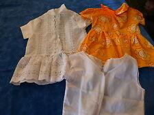robes poupée 35-40cm ,bella ,raynal ,gégé ,vintage lot