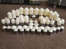 Wholesale Job Lot of £405 RRP Ivory Church Pillar Candles Wedding Centre Piece