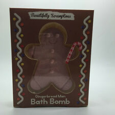 NEW Gingerbread Man Bath Bomb Bath Gift in Box IDEAL ROMANTIC GIFT SOFT HYDRATED