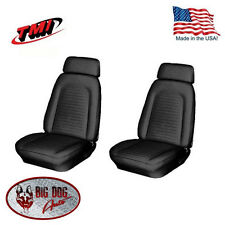 1969 Camaro Front Bucket Seat Upholstery Black Vinyl Seat Covers, In Stock Now