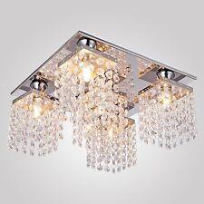 Modern Beaded Crystal Chandelier Ceiling Lighting With 5 Lamps Fixture Bedroom