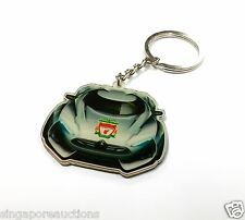 COLLECTIBLE LIVERPOOL FC SPORTSCAR METAL ACRYLIC KEYCHAIN CHEAP LAST ONE! RARE!