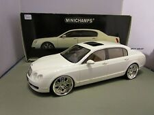 MINICHAMPS 1/18 WHITE 2005 BENTLEY CONTINENTAL FLYING SPUR USED *1 OF A KIND*