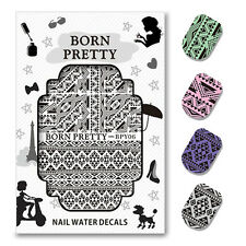 BORN PRETTY Water Decal Triangle Nail Art Transfer Sticker Decoration BPY06