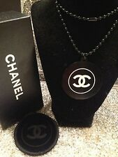 RARE CHANEL CC PENDANT ID TAG NECKLACE LIMITED VIP GIFT COLLECTIBLE !!