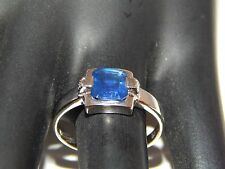 Large AGL Certified Blue Kashmir Sapphire Solitaire 1.51 ct Ring 14k Heat Only