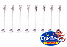 8 x Ground Anchor 520mm Galvanised Heavy Duty Swings Trampolines Climbing Frames
