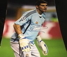 Iker Casillas *Real Madrid* Hand Signed 11x14 Autographed Photo w/COA World Cup