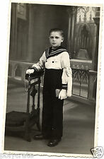 Photo ancienne portrait jeune garçon communiant habillé marin - an. 1920