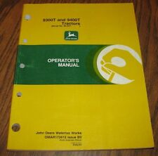 Original John Deere 9400T  9300T Tractor Operators Owner Manual s/n 90257-901000