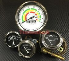 Fordson Major Early E1A Tractor Gauge Set, Tacho, Oil, Water & Ammeter Gauges
