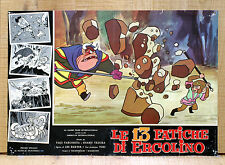 LE 13 FATICHE DI ERCOLINO fotobusta poster Saiyuki Cartoon Animazione Japan