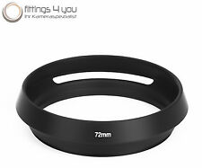 Lens hood 72mm lens hood Metal Universal Slit diaphragm black 72 mm