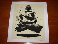 """EMEK Handbill Silkscreen Print BUDDHA Signed 7.5 X 8.25"""" like poster art"""
