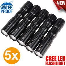 5X Portable Ultra Bright 3W Police Waterproof LED Mini Flashlight Torch Lamp