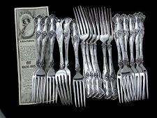 "VINTAGE GRAPE 1847 ROGERS BROS c1904 ART NOUVEAU DINNER FORK 7 ½"" -SOLD BY PIECE"