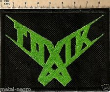 TOXIK EMBROIDERED PATCH THRASH METAL ANTHRAX OVERKILL FORBIDDEN Metal Negro