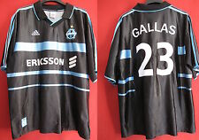 Maillot Adidas ERICSSON Gallas 1999 Exterieur Marseille Vintage OM Away - XL
