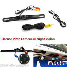 Car SUV Rear View Reverse Parking License Plate 4LED IR Night Vision Camera CMOS