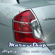 Chrome Rear Tail Light Lamp Cover Trim for 06~11 Hyundai Accent 4DR