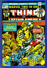 MARVEL TWO-IN-ONE  # 4 - 1974 Marvel - (fn+) The Thing & Captain America