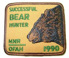 1990  RARE MNR,ONTARIO, BEAR  Hunting Patch,Crest, [deer,bear,moose,elk]