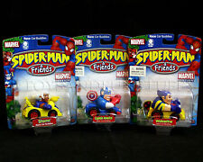 NEW 3 Spiderman & Friends RACE CAR BUDDIES - Captain America - STORM - Wolverine