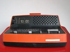 LOEWE Klappzahlen Wecker Uhr Radio ca. 70erJahre, orange, true Vintage