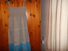 Blue and grey maxi dress, LOLLIPOPS AND ICE CREAM, size 10, 12,14