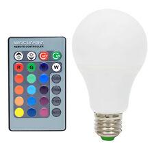 E27 LED 5W RGB Dimmbar Birne 16 Farben Farbwechsel Glühlampe mit Fernbedienung