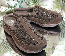 EASY SPIRIT BROWN MULES SLIDES SLIP ON LOAFERS DRESS COMFORT SHOES WOMENS SZ 6 M