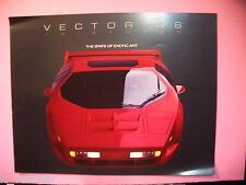✪altes Original Prospekt Vector W8 600 Ps Auto car 90iger Jahre twin turbo