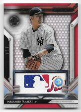 2016 Topps Strata Clearly Authentic Red #MTA Masahiro Tanaka MLB Logo Patch #1/1