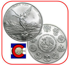 2011 Mexico Libertad 1 oz BU Mexican Silver Coin in plastic airtite