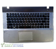 New Samsung NP-QX410 QX411 US keyboard with Frame Palmrest Touchpad US seller