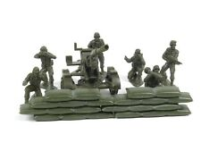 New Ray WWII Soldiers With Artillery Gun Sand Bags Set 1:32 Scale Military Toys