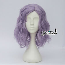 35CM Lolita Style Light Purple Curly Party Hair Heat Resistant Cosplay Full Wig
