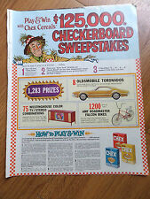 1966 Oldsmobile Toronado Ad Chex Cereals Checkerboard Sweepstakes