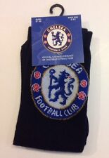 Chelsea FC Black Crest Socks Shoe Size 4-6.5 Officially Licensed Product