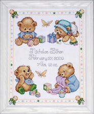 DESIGN WORKS - TOBIN BABY - BABY BEAR SAMPLER CROSS STITCH KIT (T21711)