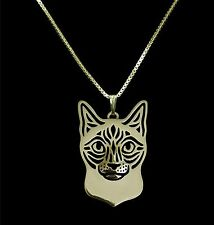 Siamese Cat Pendant Necklace -  Fashion Jewellery - Gold Plated