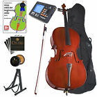 CECILIO SIZE 3/4 ACOUSTIC CELLO STUDENT w/ TUNER, LESSON BOOK 3/4CCO-100