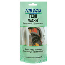 Nikwax Tech Wash Pouch Waterproof Jacket Cleaner100ml Non Detergent Soap Machine